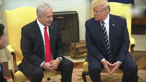 Us-President-Donald-Trump-And-Isreali-Prime-Minister-Benjamin-Netanyahu-During-A-White-House-Press-Briefing-Dc-2