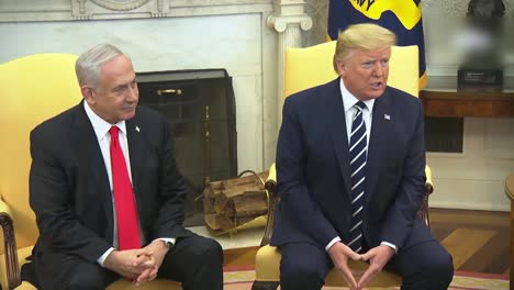 Us-President-Donald-Trump-And-Isreali-Prime-Minister-Benjamin-Netanyahu-During-A-White-House-Press-Briefing-Dc-3