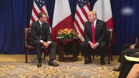 El-Presidente-Estadounidense-Donald-Trump-Y-El-Presidente-Francés-Macron-Durante-Una-Rueda-De-Prensa-De-La-Casa-Blanca-En-Washington-Dc