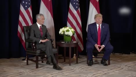 Us-President-Donald-Trump-And-Lee-Hsein-Loong-Prime-Minister-Of-Singapore-During-A-Press-Conference-Photo-Op