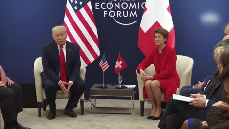 Us-President-Donald-Trump-And-Simonetta-Sommaruga-President-Of-the-Swiss-Confederation-World-Economic-Forum