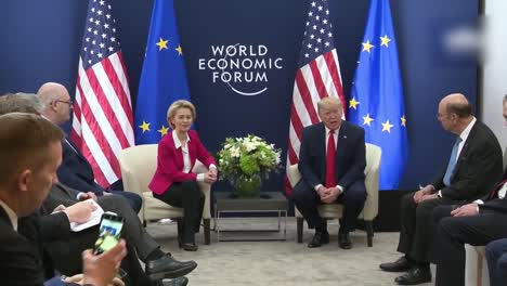 Us-President-Donald-Trump-And-Ursula-Von-Der-Leyen-President-Of-the-European-Commission-World-Economic-Forum