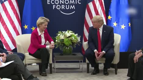 Us-President-Donald-Trump-And-Ursula-Von-Der-Leyen-President-Of-the-European-Commission-World-Economic-Forum-1