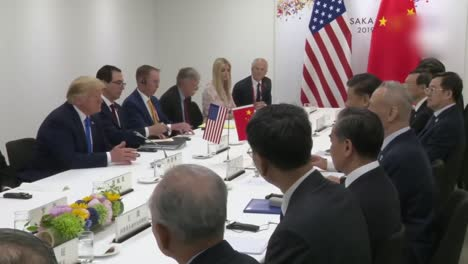 Us-President-Donald-Trump-And-Chinese-President-Xi-Meet-And-Discuss-Trade-During-the-G20-Meeting-In-Osaka-Japan