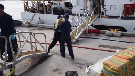 Coast-Guard-Cutter-Heriberto-Hernandez-Crew-Offload-62-Bales-Of-Cocaine-Seized-From-Smugglers-San-Juan-Pr