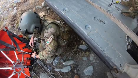 Helmet-Cam-Of-California-Air-National-Guard-Hh60G-Pave-Hawk-Helicopter-Crew-Prepping-For-A-Water-Bucket-Drop