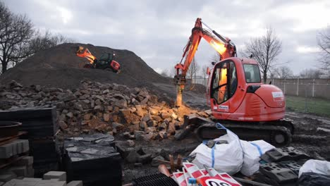 Concrete-Blocks-From-Old-Road-Demolitions-Are-Crushed-And-Recycled-For-New-Projects-Chievres-Air-Base-Belgium-1