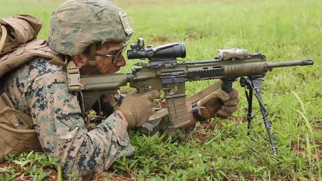 Us-Marines-Fire-Weapons-During-A-Longrange-Air-Assault-Raid-Exercise-At-Camp-Hansen-Okinawa-Japan