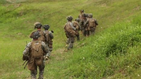 Us-Marines-Longrange-Air-Assault-Raid-Exercise-With-Mv22B-Ospreys-At-Camp-Hansen-Okinawa-Japan