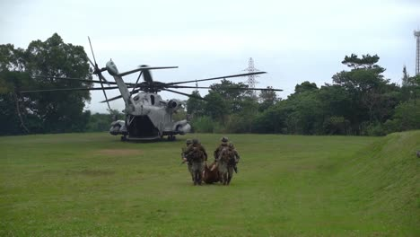 Us-Marines-Simulate-Casualty-Extraction-Of-Critically-Wounded-Soldiers-At-Lz-Owl-Ginoza-Okinawa-Japan