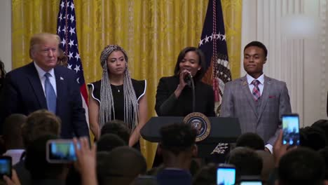 Us-President-Donald-Trump-Speaks-To-African-Americans-Young-Black-Leadership-Summit-At-the-White-House-2
