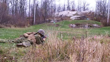 Us-Marines-Soldiers-March-And-Fire-Weapons-In-Fire-Team-Immediate-Action-Drills-At-Fort-Drum-New-York-2