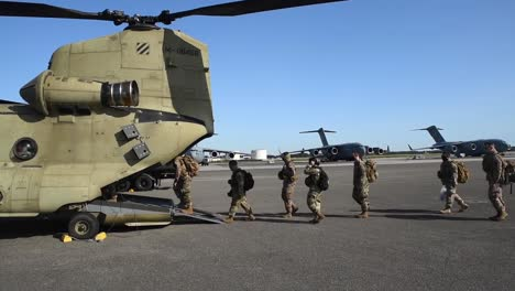 Soldiers-Airmen-And-Chinook-And-Black-Hawk-Helicopter-Operations-During-Training-Exercise-Guardian-Shield