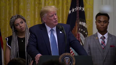Us-President-Donald-Trump-Speaks-To-African-Americans-Young-Black-Leadership-Summit-At-the-White-House-16