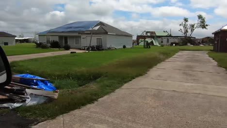 Damage-And-Destruction-To-Homes-And-Neighborhoods-From-Hurricane-Laura-In-Calcasieu-Parish-Lousianna-3