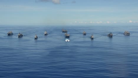Aerial-Of-Us-Navy-Ships-In-Formation-During-Valient-Shield-Joint-Blue-Water-Training-Exercise-In-the-Philippine-Sea-1