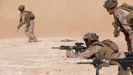 Us-Marine-Marksmanship-And-Hand-Grenade-Training-Exercise-During-Falcon-Sentry-United-Arab-Emirates