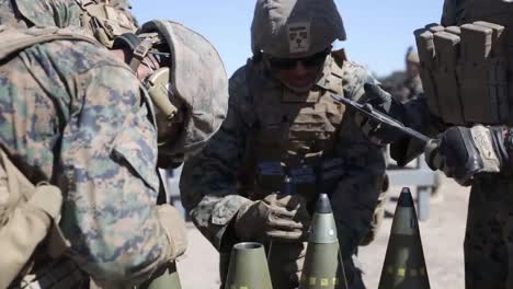 Us-Marines-Direct-Fire-Drill-With-M777-Howitzer-Marine-Corps-Combat-Readiness-Evaluation-Camp-Pendleton-Ca-2