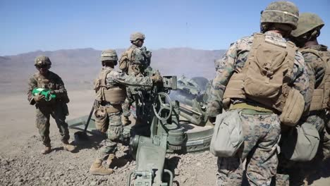Us-Marines-Direct-Fire-Drill-With-M777-Howitzer-Marine-Corps-Combat-Readiness-Evaluation-Camp-Pendleton-Ca-3