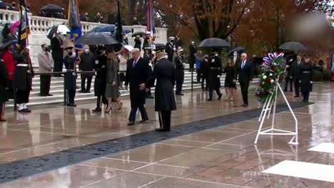 Us-President-Donald-Trump-Vice-President-Mike-Pence-At-National-Veterans-Day-Observance-Washington-Dc
