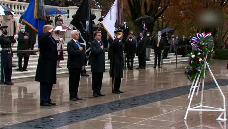 Us-President-Donald-Trump-Vice-President-Mike-Pence-At-National-Veterans-Day-Observance-Washington-Dc-1