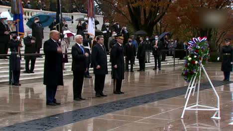 Us-President-Donald-Trump-Vice-President-Mike-Pence-At-National-Veterans-Day-Observance-Washington-Dc-2