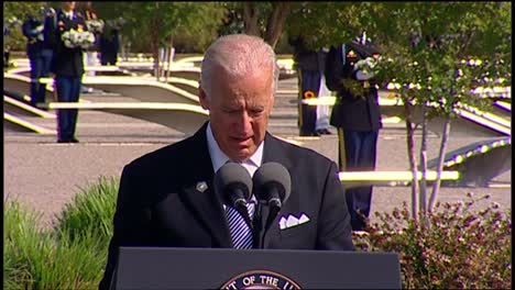 Us-Vice-President-Joe-Biden-Speaks-To-Politician-Military-And-Families-Pentagon-9/11-Observance-Arlington-Va
