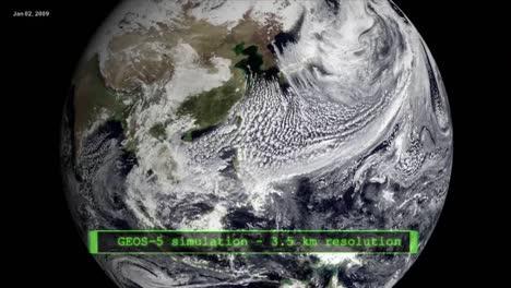 La-Animación-De-La-NASA-De-Un-Globo-Que-Gira-Desde-El-Espacio-Se-Mueve-Para-Ver-Los-Cambios-Climáticos-Del-Calentamiento-Global-