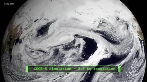 NASA-Animation-Eines-Sich-Aus-Dem-Weltraum-Drehenden-Globus-Mit-Schwerpunkt-Auf-Globaler-Erwärmung-Und-Klima