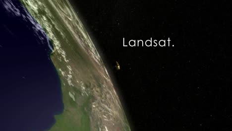 Nasa-Animation-Of-The-Landsat-Satellite-Flying-By