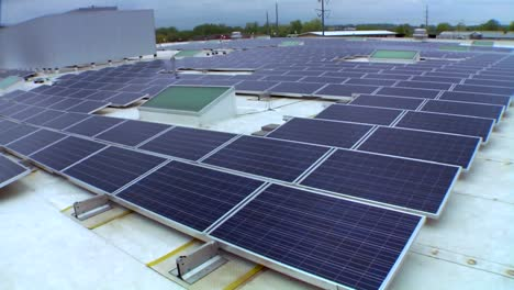 Solar-Panels-Are-Seen-On-Top-Of-A-Commercial-Building