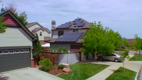 Aerial-Of-Solar-Panels-Adorning-The-Tops-Of-Houses-In-A-Residential-Neighborhood-1