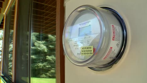 Pan-Across-To-A-Residential-Electric-Meter