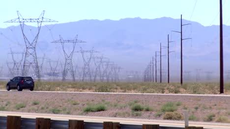 Electrical-Transmission-Lines-Run-Across-The-Desert