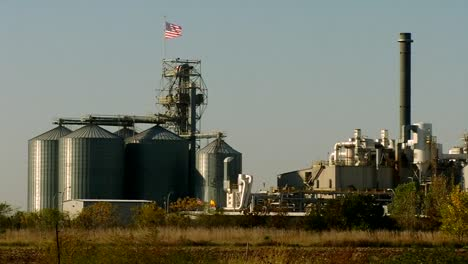 An-Ethanol-Refinery-With-American-Flag