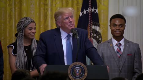 Us-President-Donald-Trump-Speaks-To-African-Americans-Young-Black-Leadership-Summit-At-the-White-House-21