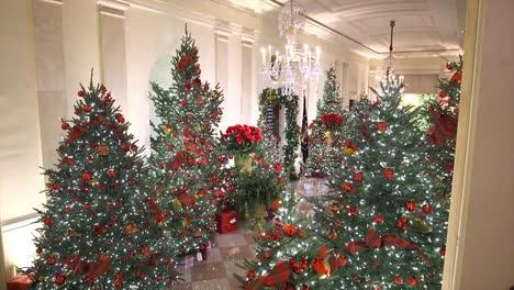 La-Primera-Dama-Melania-Trump-Muestra-La-Temporada-De-Vacaciones-De-Navidad-De-Invierno-Deocrations-En-La-Casa-Blanca