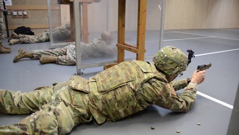 Us-Army-Soldiers-With-Allied-Forces-North-Battalion-M17-Pistol-Marksmanship-Training-Chievres-Air-Base-Belgium