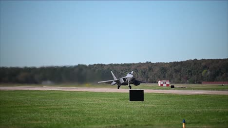 Us-Air-Force-F22-Raptor-Jet-Fighter-Planes-Take-Off-From-A-Runway-At-Joint-Base-Langley-Eustis-Virginia