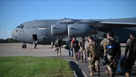 Us-Air-Force-Airmen-Deploy-On-Boeing-C17-Globemaster-Iii-During-Covid19-Joint-Base-Langley-Eustis-Virginia