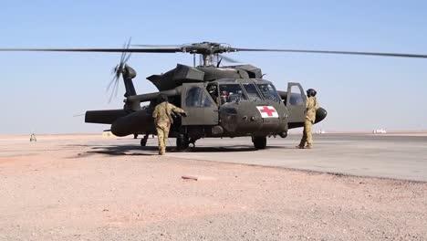 National-Guard-Task-Force-Javalin-Uh60-Black-Hawk-Helicopter-Flys-At-Prince-Sultan-Air-Base-Saudi-Arabia