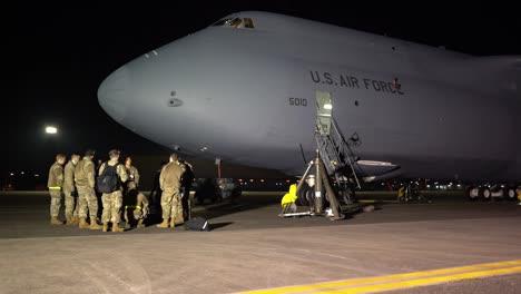 Us-Air-Force-Airmen-Receive-Training-On-A-C5M-Super-Galaxy-Cargo-Jet-Airplane-At-Yokota-Air-Base-Tokyo-Japan