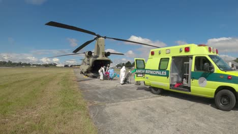 Us-Army-Ch47-Chinook-Crew-And-Guatemala-City-Firefighters-Transfer-A-Pregnant-Covid19-Patient-Guatemala