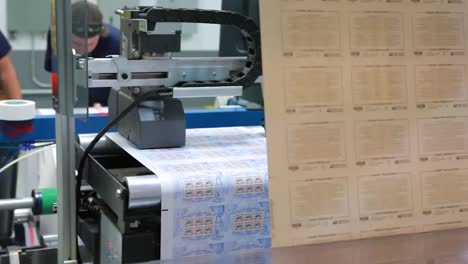 Us-Postage-Stamps-Are-Printed-In-A-Factory