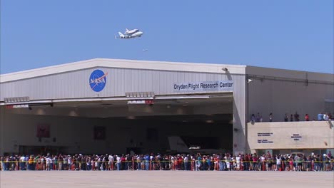 The-Final-Voyage-Of-Space-Shuttle-Enterprise-Crowds-At-Dryden-Afb