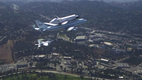 The-Final-Voyage-Of-Space-Shuttle-Enterprise-Flying-Over-Downtown-Los-Angeles-And-Universal-Studios