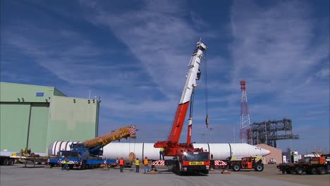 Two-Space-Shuttle-Solid-Rocket-Boosters-Arrive-At-Dryden-1