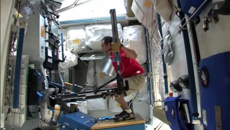 Astronauts-Exercise-On-The-International-Space-Station