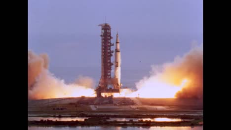 Apollo-11-Launches-From-Kennedy-Space-Center-Cape-Canaveral-In-1969