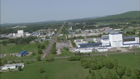 Antennen-über-Dem-George-Marshall-Space-Flight-Center-In-Huntsville-Alabama
